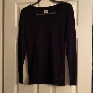 PINK long sleeve waffle shirt